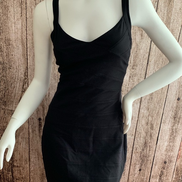 Express Dresses & Skirts - Stretch Sleeveless Bodycon Little Black Dress
